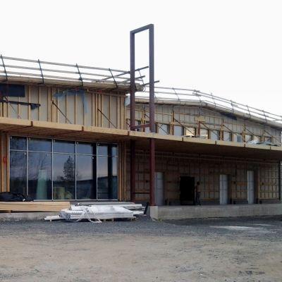 Jokioisten Leivän uusi toimitalo rakennusvaiheessaan vuonna 2013