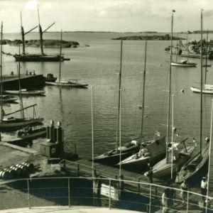 Vy från HSF paviljongen sommaren 1939