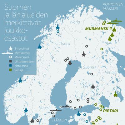 Suomen ja lähialueiden merkittävät joukko-osastot