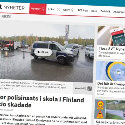 Kuvakaappaus SVT:n sivulta.