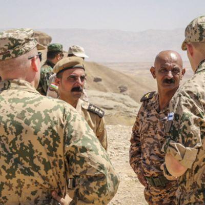 Finländska militärutbildare i Irak.