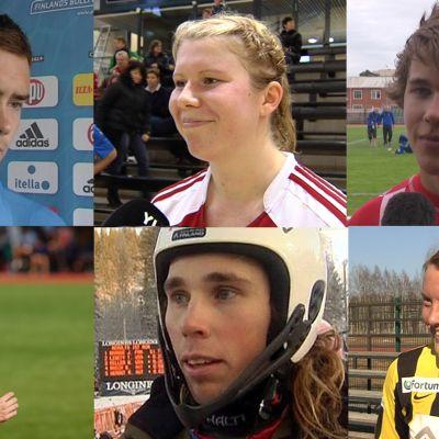 Bildcollage med Tim Sparv, Sandra Eriksson, Linda Cainberg, Andreas Romar, Simon Skrabb och Anna Westerlund.