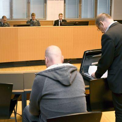 Sotilasoikeudenkäynti Helsingin käräjäoikeudessa
