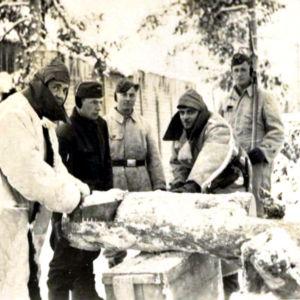 Venäläisiä sotavankeja Lapissa jatkosodan aikana