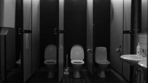 En allmän toalett.
