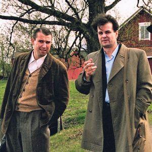 Martti Suosalo, Tapio Liinoja ja Heikki Nousiainen Koivusalon elokuvassa Kulkuri ja joutsen (1999).