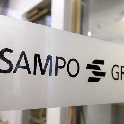 Sampo Groupin pääkonttorin ovi.