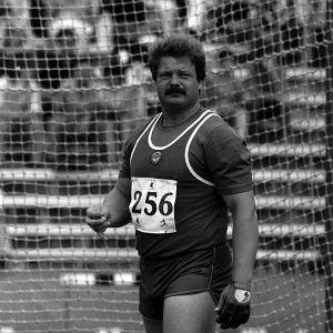Jüri Tamm moukarihäkissä vuonna 1984.