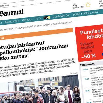 sanomalehden sivu