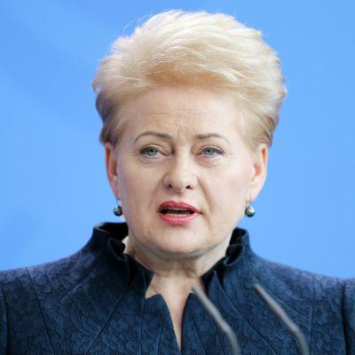Liettuan presidentti Dalia Grybauskaitė.