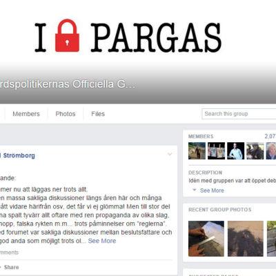 Skärmdump på Facebook-gruppen Skärgårdspolitikernas officiella grillsida
