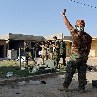 Irakilaisia sotilaita Zirkan kaupungissa 31. lokakuuta.