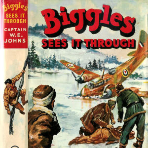 W.E. Johns bok Biggles sees it trough (pärmbild)