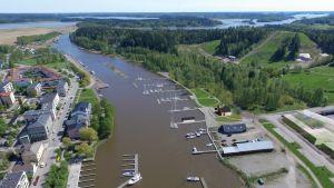 Skiss för gästhamnen i Borgå