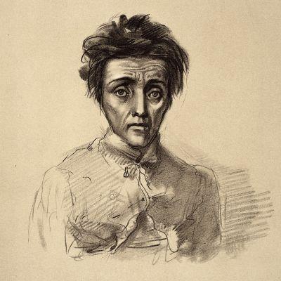 Melankolia. Lääketieteellistä kuvitusta 1800-luvulta.