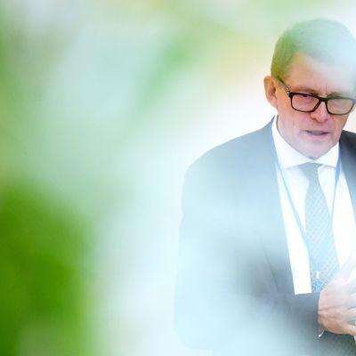 Valtiovarainministeri Matti Vanhanen Taloustoimittajien vieraana Helsingissä 4. syyskuuta.