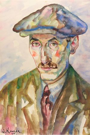 Josef Kowner: Selbstporträt / Self-Portrait (1941)