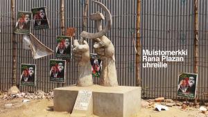Muistomerkki Rana Plazan uhreille