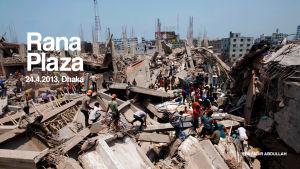 Rana Plazan romahduksen rauniot 24.4.2013, EPA
