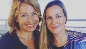 Martina Haag och Anne Hietanen.