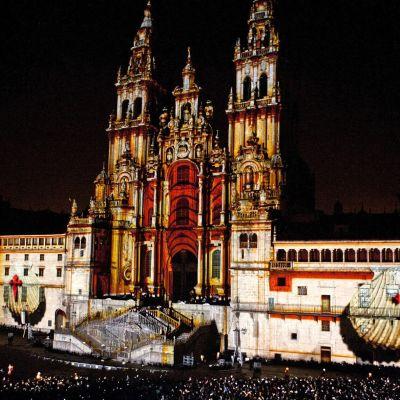 Katedralen i Santiago de Compostela vid Jakobsfestligheterna 2012