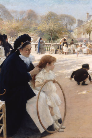 Albert Edelfelts Luxembourg-trädgården i Paris