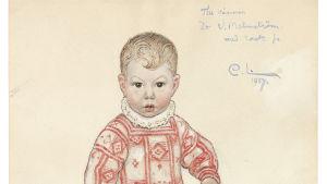 """Carl Larssons teckning """"Sven"""" från 1917"""