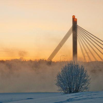 Jätkänkynttilä - silta pakkashuurun keskellä
