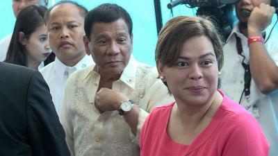 President Rodrigo Dutertes dotter Sara Duterte-Carpio vill inte ställa upp i presidentvalet trots att hon toppar opinionsmätningar.