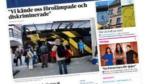 Skärmdump från Dagens Nyheters hemsida