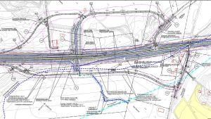 Vägplan för riksväg 25 vid Ekenäsvägen.