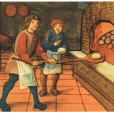 En bagare med lärling