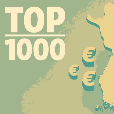Karta över Finland och eurosymboler
