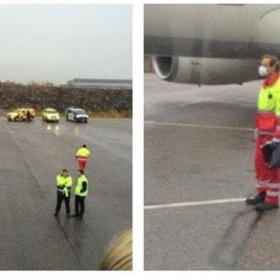 Misstanke om ebola på Helsingfors-Vanda flygplats, 13.10.2014.
