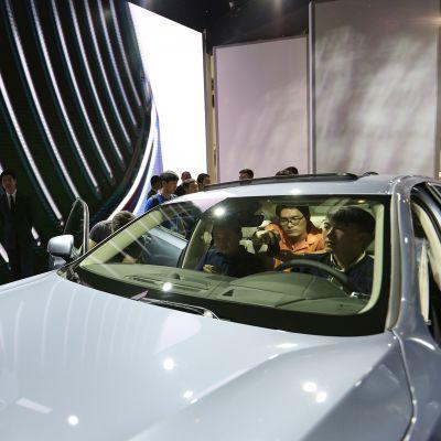 Volvo autonäyttelyssä Pekingissä, Kiinassa 25. huhtikuuta 2016.
