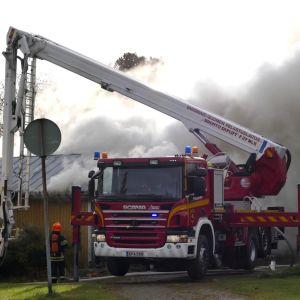 Brand i Nystad.