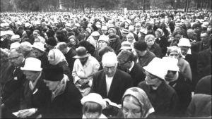 Väckelsemöte i Idensalmi år 1965.