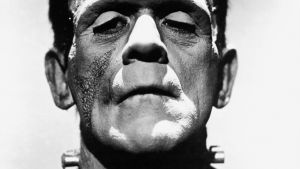 Boris Karloff som Frankensteins monster i en filmatisering av Mary Shelleys roman från år 1935.