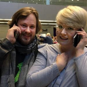 Bassobaritoni Jussi Juola ja sopraano Virva Puumala.