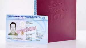 Ett identitetskort och ett pass.