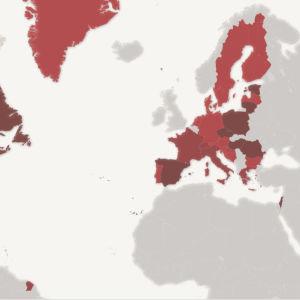 Karta över gränserna för alkoholkonsumtion