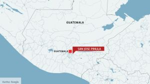 Karta över San José Pinula i Guatemala.