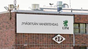 Bild på UPM Plywoods fabrik i Jyväskylä.