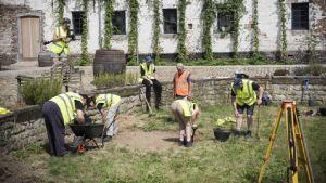 Utgrävningarna på väg att inledas vid platsen för det tidigare fältsjukhuset