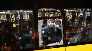 Poliser var målet för bomberna i Istanbul.