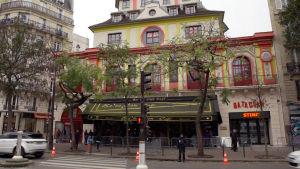 Konsertlokalen Bataclan i Paris ett år efter terrorattacken.