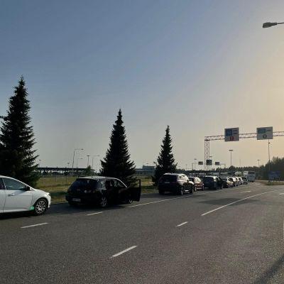 Bilkö vid gränsstationen i Vaalimaa.