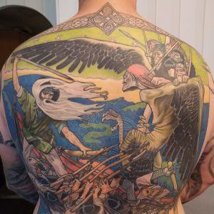 Tatuering av en scen ur Kalevala