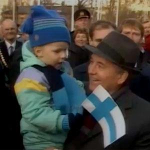 Mihail Gorbatšov Suomessa (1989).