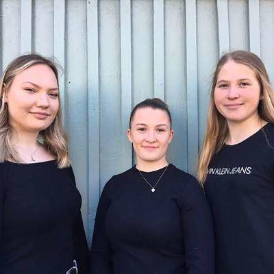 Isabell Stennabba, Georgina Kung och Frida Sundell blir alla studenter i vår.